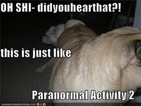 OH SHI- didyouhearthat?! this is just like Paranormal Activity 2
