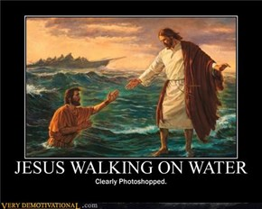 JESUS WALKING ON WATER