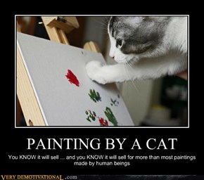 PAINTING BY A CAT