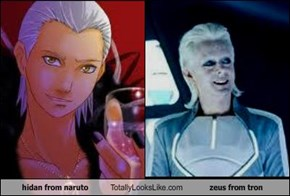 hidan from naruto Totally Looks Like zeus from tron