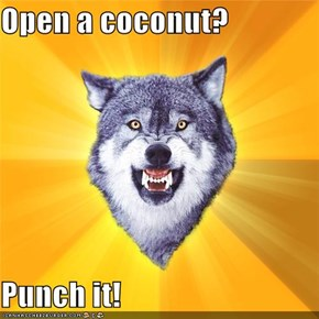 Open a coconut?  Punch it!