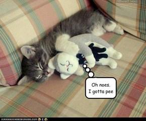 Ummmm....snuggle bunny? U wake?