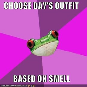 CHOOSE DAY'S OUTFIT  BASED ON SMELL