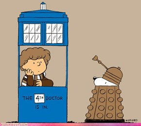 Peanuts Meets Doctor Who