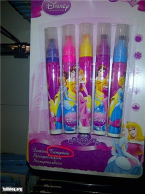 "Disney Fail: Princess ""tampons"""