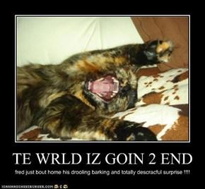 TE WRLD IZ GOIN 2 END