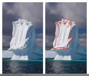 Image of Ceiling Cat Appears in Iceberg