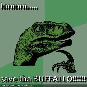 hmmm.....  save tha BUFFALLO!!!!!!1!!!!!