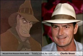 McLeach from Rescuers Down Under Totally Looks Like Charlie Sheen