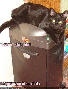 """Green"" Shredder Requires no electricity"