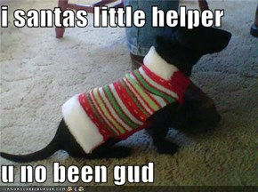 i santas little helper  u no been gud