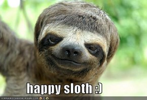 happy sloth :)