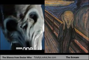 The Silence from Doctor Who Totally Looks Like The Scream