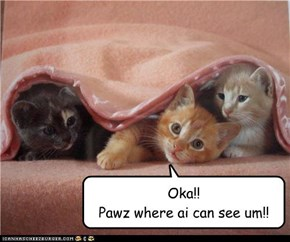 Oka!! Pawz where ai can see um!!