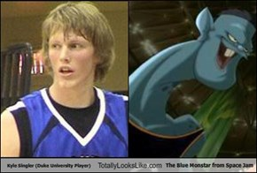 Kyle Singler (Duke University Player) Totally Looks Like The Blue Monstar from Space Jam