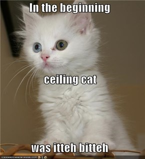 In the beginning ceiling cat was itteh bitteh