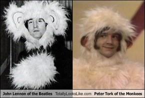 John Lennon of the Beatles Totally Looks Like Peter Tork of the Monkees