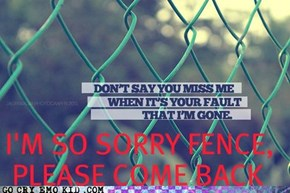 The Fence is So Melodramatic