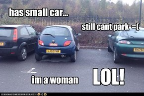 has small car...