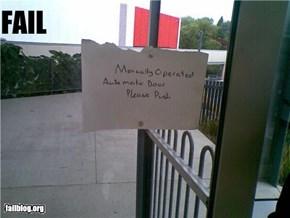 Automatic Door FAIL
