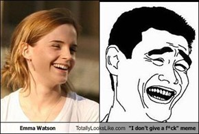 "Emma Watson Totally Looks Like ""I don't give a f*ck"" meme"