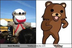 Sock Monkey  Totally Looks Like Pedobear