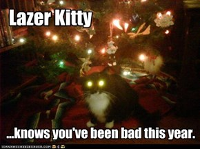Lazer Kitty:  Making a list and checking it twice