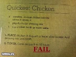 Quickest Chicken FAIL
