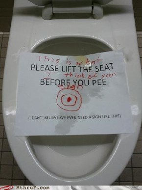 No One's Touching That Seat Now!