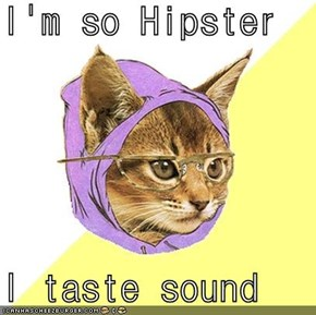 I'm so Hipster  I taste sound