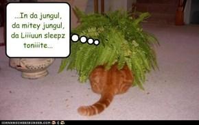 ...In da jungul, da mitey jungul,  da Liiiuun sleepz toniiite...