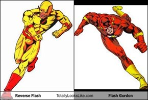 Reverse Flash Totally Looks Like Flash Gordon