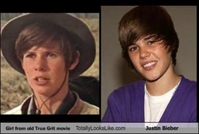 Girl from old True Grit movie Totally Looks Like Justin Bieber