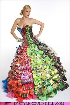 Honey are you shore you want a recycled dress?