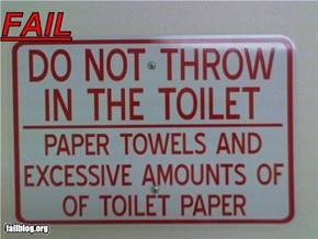 Bathroom Sign Fail