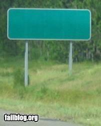 Blank Sign FAIL