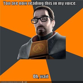 Gordon Freeman Is No Morgan Freeman