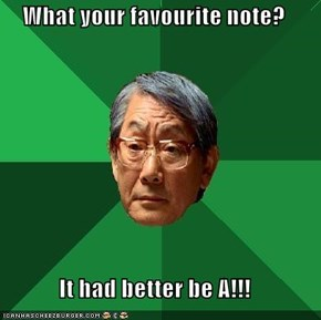 What your favourite note?  It had better be A!!!