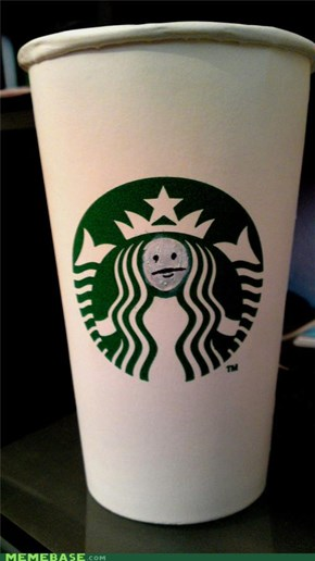 Internet IRL: Starbucks poker face