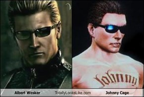 Albert Wesker Totally Looks Like Johnny Cage