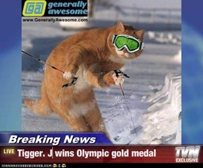 Breaking News - Tigger. J wins Olympic gold medal