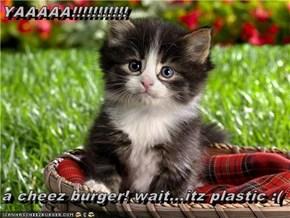 YAAAAA!!!!!!!!!!!  a cheez burger! wait...itz plastic :(