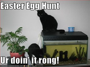 Easter Egg Hunt  Ur doin' it rong!