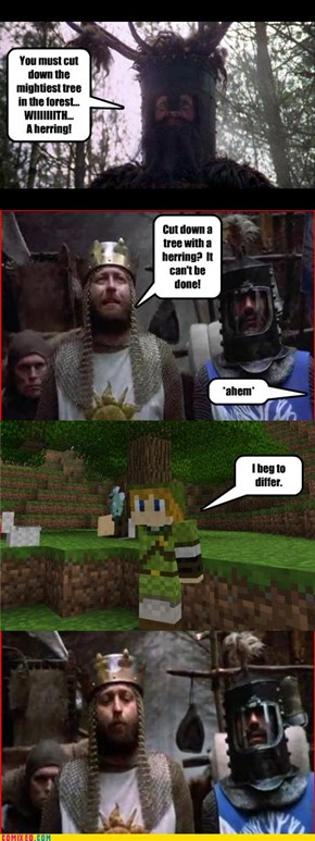 The Knights of Ni Love MineCraft