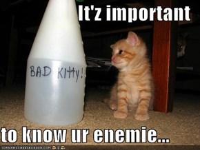 It'z important  to know ur enemie...