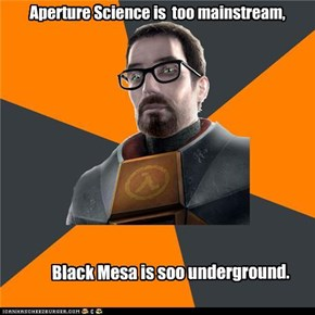 Hipster Gordon Freeman: The Right Career Path