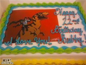 Batman & T-Rex Cake WIN