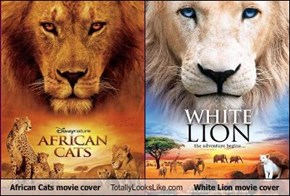 African Cats movie cover  Totally Looks Like White Lion movie cover