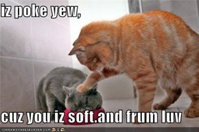 iz poke yew,  cuz you iz soft.and frum luv