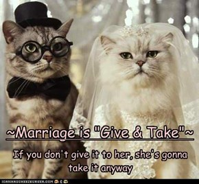 "~Marriage is ""Give & Take""~"